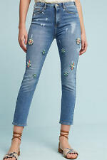 NWT Anthropologie Pilcro Embellished Bejeweled High- Rise Skinny Ankle Jeans 29