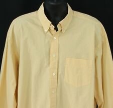 Nautica Mens 2XL Button Front Shirt L/S Yellow Sanded Poplin Extra Large