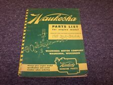 Waukesha 195-DLC 195-DLCA Engine Factory Original Parts Catalog Manual Book