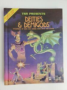 1980 HC Book Dungeons & Dragons Deities & Demigods Encyclopedia Gods & Heroes NR