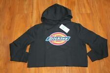 NWT WOMENS DICKIES SZ L CROP HOODIE BLACK