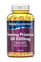 Evening Primrose Oil 1000mg-180 Capsules-Supports Hormone Balance & Healthy Skin