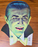 RARE VINTAGE DRACULA DOUBLE SIDED CUT OUT HALLOWEEN CA REED BEISTLE BELA LUGOSI