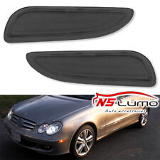 2x Smoked Front Led Side Marker Lights for 03 06 Mercedes-Benz CLK55 AMG CLK500