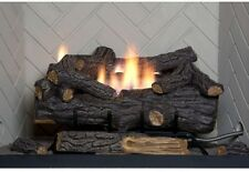 24 in Large Natural Gas Fireplace Logs w/ Remote Control Vent Free Fire Log Set