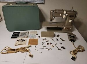 Vintage Pfaff 332 Sewing Machine with Carry Case, Manual & Accessories