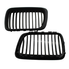 For BMW E36 318i/323i/328i 1997-1999 Matte Black Front Kidney Grille Grill Pair