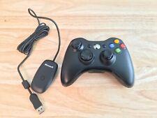 Microsoft Xbox 360 USB Wireless Receiver Windows Black Xbox 360 Controller OEM