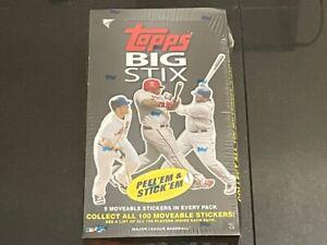 2008 Topps Big Stix MLB Baseball Factory Sealed Box Stickers 20 Packs
