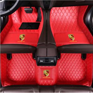 Suitable  Porsche 718-911-Boxster-Cayenne-Cayman-Macan-Taycan-Car Floor Mats