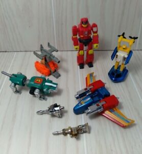Vtg 80s Robot Toy Action Figure Lot Bandai Hasbro Transformers Voltron Lion