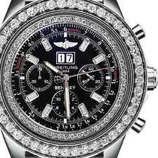 Breitling For Bentley 6.75 A4436412 10ct Diamond Bezel Watch Black Dial