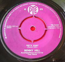 "Benny Hill Pepy's Diary 7""UK ORIG '61 Pye 7N.15327 Gather In The Mushrooms VINYL"