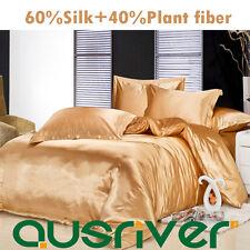Genuine Silk Soft Satin Sinle/Double/Queen/King Size Quilt/Doona/Duvet Cover Set