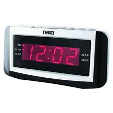Naxa Nrc-171 Pll Digital Alarm Clock Am/Fm Radio Snooze And Large Led Display