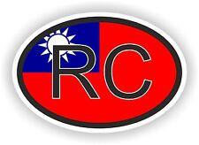 RC Taiwan Codice paese Ovale con Bandiera Adesivo Paraurti Decalcomania Auto Moto Tablet