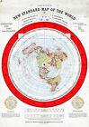 Flat Earth Map LARGE 23'x32' Alexander Gleason 1892 Standard Map of the World