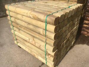 1.2m Planed Mini Log Sleeper 150x100 - tanalised green £9.99