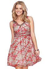 Polyester V-Neck Tea Dresses for Women