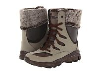 New! Women's Skechers Bravos-Cabin Fever Winter Lace-Up Boots Chocolate 11631 A1