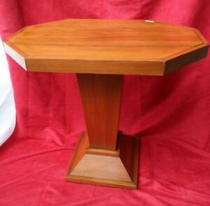 Table Pedestal Table Octagonal, Middle Xx Siècle. Good Condition