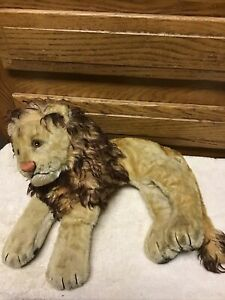 Early Vintage Original STEIFF Lion RARE approx 12 inches long