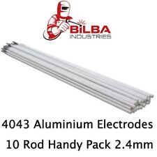Aluminium E4043 Stick Electrodes 2.4mm 10 Rod Handy Pack