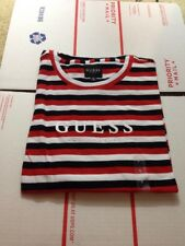 NEW With Defect Guess Los Angeles Tilden Red White Black Stripe T Shirt Small S