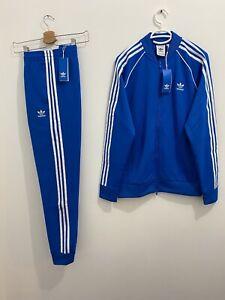 Adidas Originals Superstar Tracksuit Blue Bird White Size L