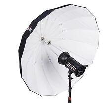 "Lencarta 130cm 51"" White 16-Rib Deep Parabolic Umbrella"
