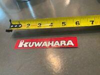 Nos Old School BMX Decal Sticker for KUWAHARA KZ 1 2 white JAPAN frame seat post