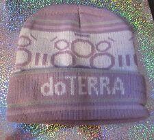 doTerra knit ski cap HAT essential oil brand PURPLE ladies mens unisex NEW gift