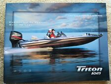 Triton 2003 Fiberglass Bass Fishing Boat Brochure / Catalog