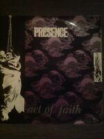 "Presence - Act Of Faith/Earthquake/Tomorrow 12"" Vinyl House 1992 Reality Records"