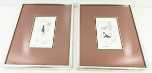 Funny Cat Prints Drinking From Toilet Staring Into Mirror M J Blakebrough Framed