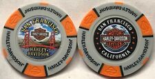 San Francisco Harley-Davidson® in S.F. , CA Collector Poker Chip Gray/Orange NEW