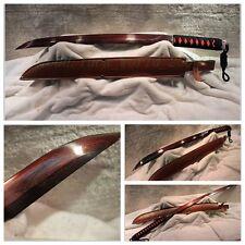 HANDMADE HIGH QUALITY JAPANESE SAMURAI SWORD KATANA FOLDED STEEL RED BLADE #3124
