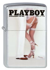 ZIPPO Feuerzeug PLAYBOY COVER AUGUST 1978 Brushed Chrome Pin Up Girl NEU OVP