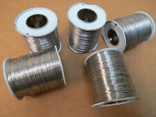 Five One Pound Spools of Aircraft 302/304 Stainless Steel Safety Wire Ms20995C20