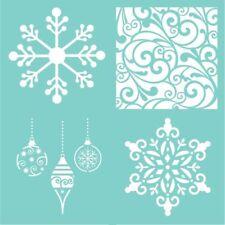 Kaisercraft TEMPLATE/STENCIL 12x12 Festive Quarters Christmas