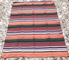 FAIR TRADE RAINBOW MOROCCAN THROW / BED SPREAD / BLANKET /RUG FROM MOROCCO