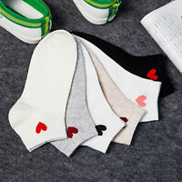 Women Casual Cute Heart Low Cut Ankle High Short Soft Cotton Socks Fashion Lady