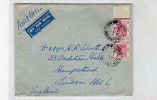 Hong kong: 1948 air mail cover à londres (C22554)