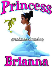 New Personalized Princess Tiana and The Frog T Shirt Party Favor Birthday Gift