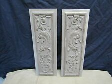 paire de panneaux boiseries ancienne sculptees   patinees ancien