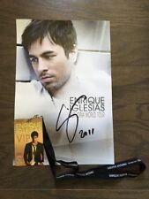 Enrique Iglesias Euphoria World Tour Authentic Autographed Poster With VIP Badge