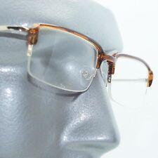 Reading Glasses Extra Wide Half Top Frame Metro Sleek Coffee Trim +3.00 Lens