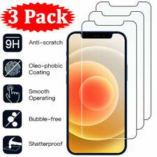 Para iPhone 12 11 Pro Xr XS Max 8 7 X 6 Plus 3Pcs Protector de Pantalla de Vidrio Templado