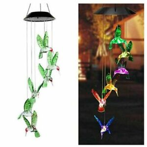 Wind Chime Solar Powered Outdoor Color-Changing Mobile Romantic Led Lights Gift