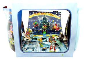Diorama der Cybertops mit Original Umkarton und Zettel mit allen Figuren